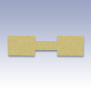 Etichete dreptunghiulare galbene - 500 buc
