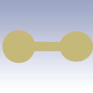 Etichete rotunde galbene - 500 buc