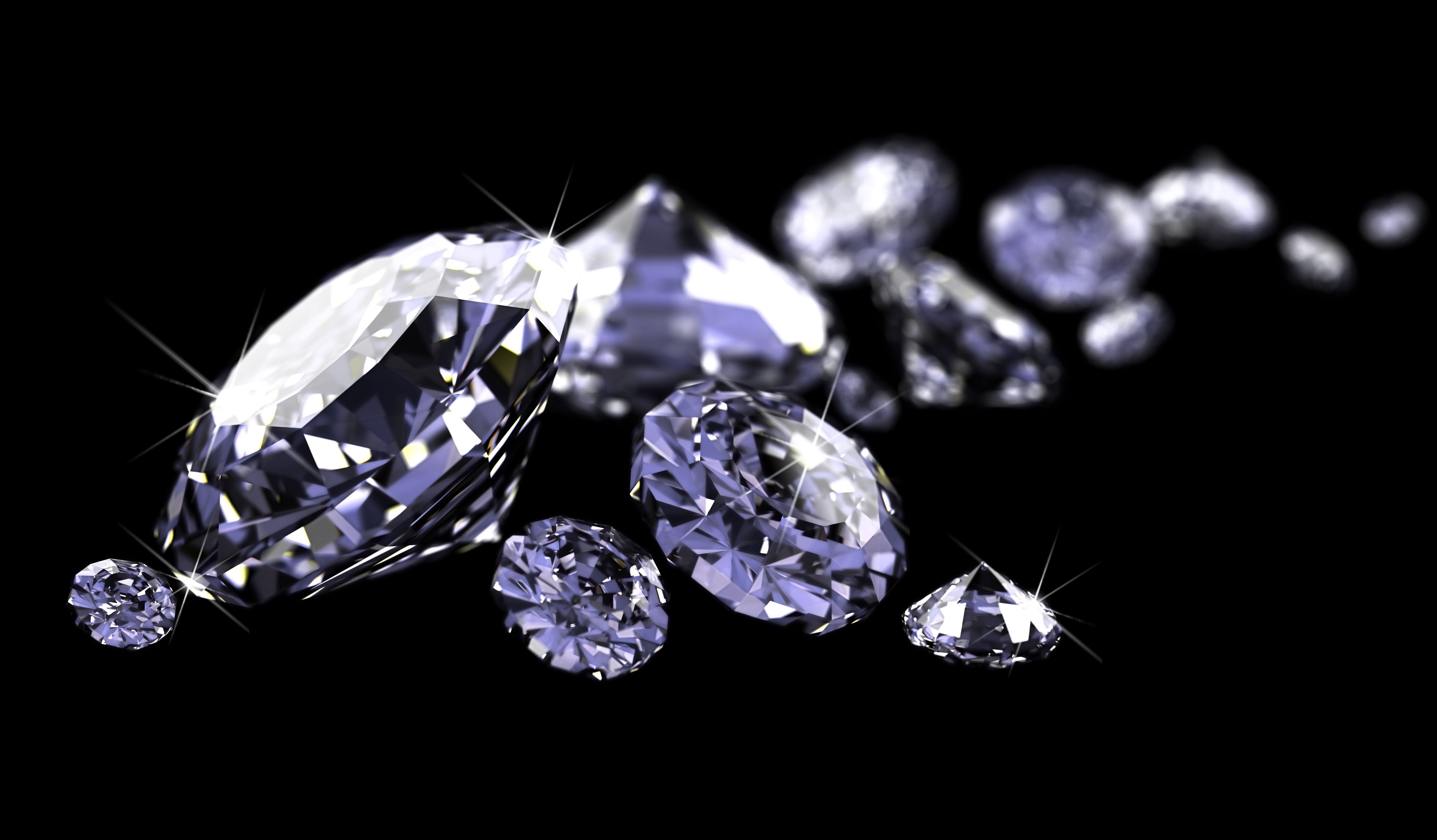 6228527 - diamonds on black surface