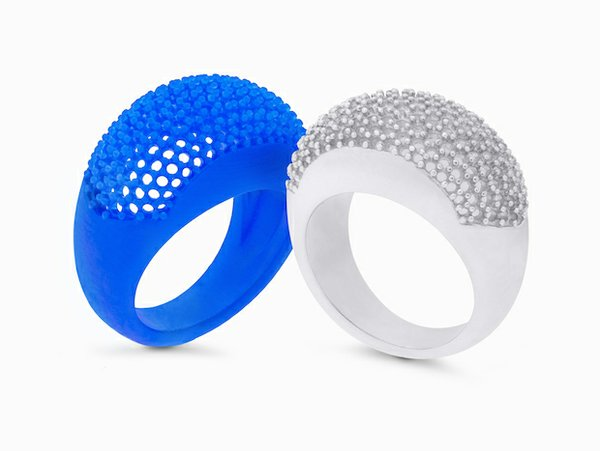 pave ring print and cast